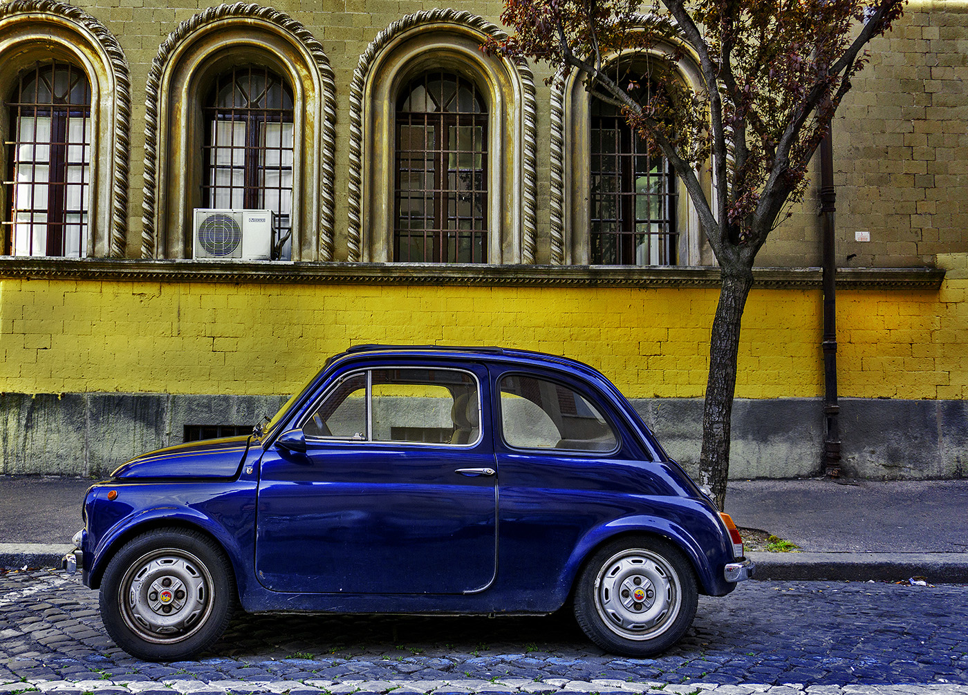 Classic Fiat 500 in Rome Italy