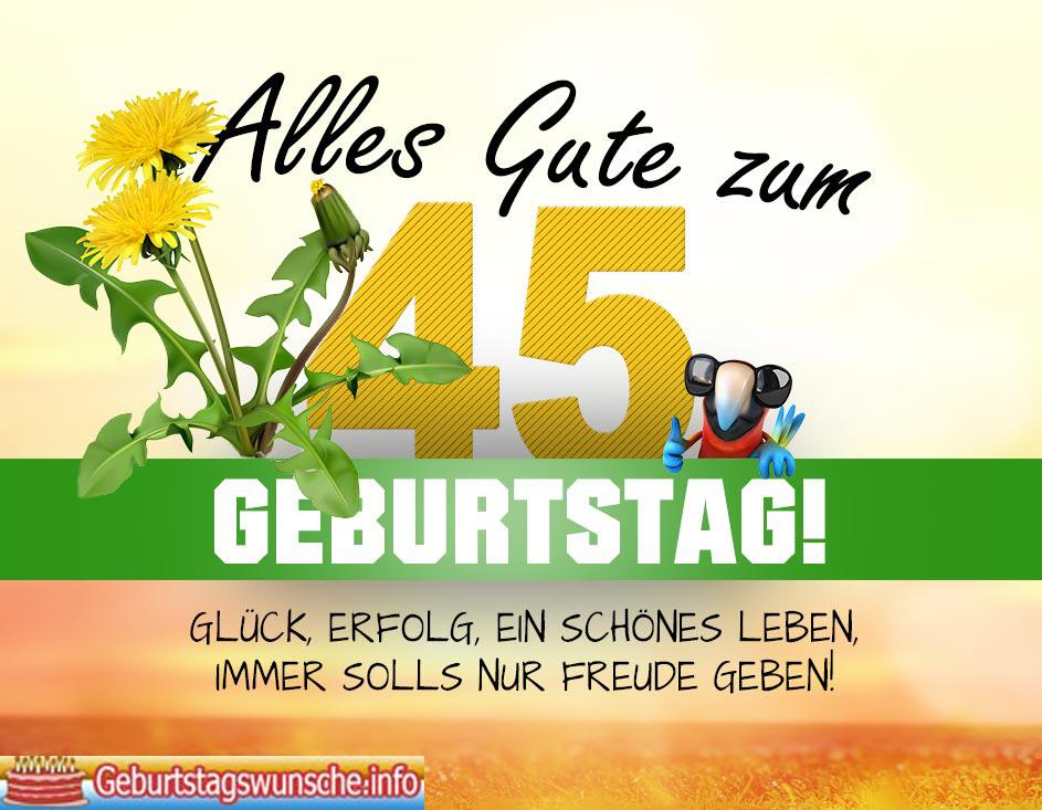 Gluckwunsche Zum Geburtstag Frau 45 Schone Grusse