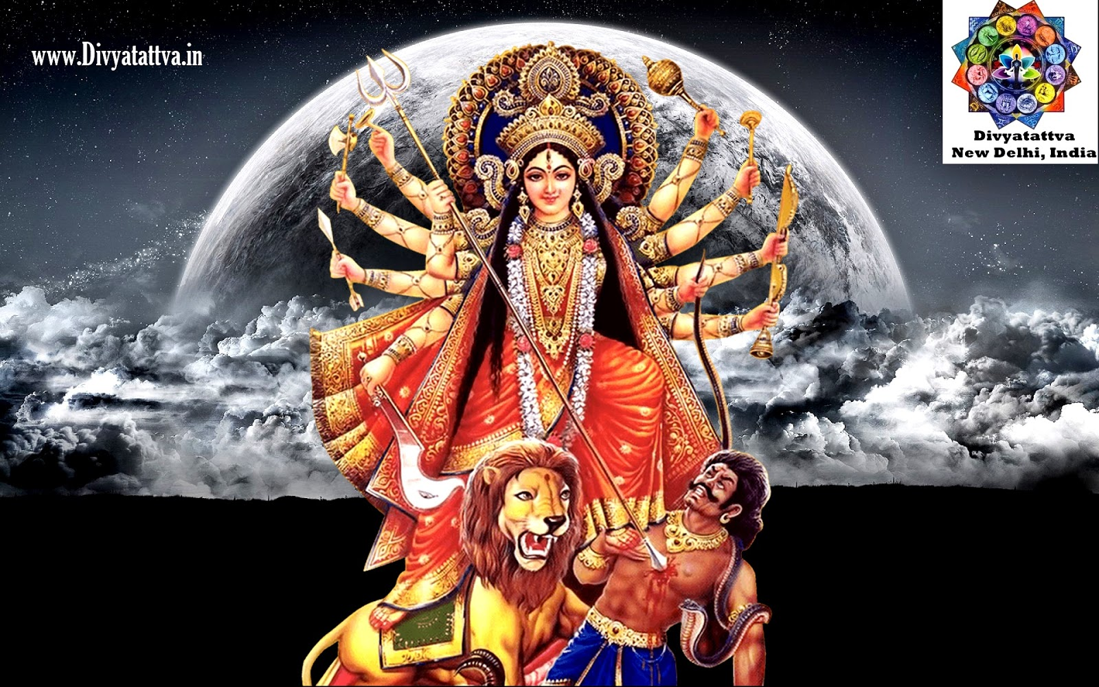 durga devi hindu goddess hd wallpaper images bckground mobile phone smartphone laptops computer www.divyatattva.in
