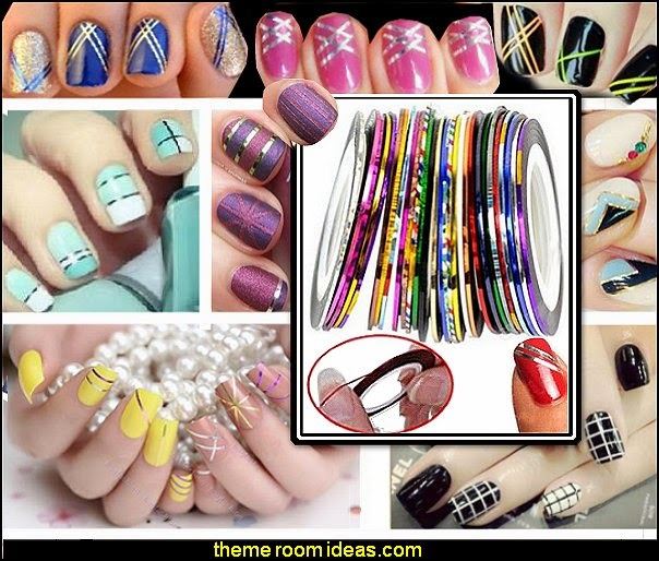 Striping Tape Line Nail Art Sticker Nail Stickers Striping Tape Line Nail Art