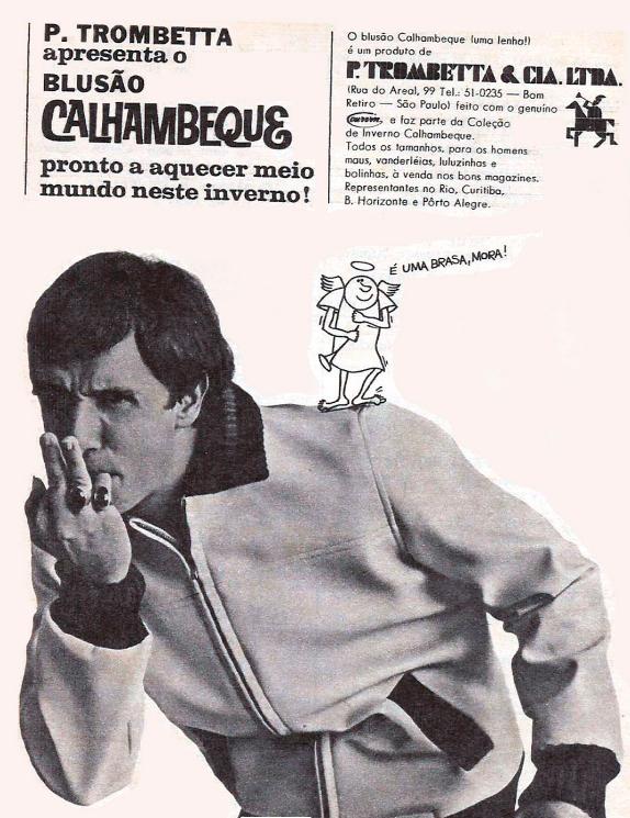Propaganda antiga do blusão Calhambeque apresentada na metade dos anos 60