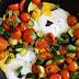 Kepti kiaušiniai su cukinijomis ir pomidorais | One-pan Summer Eggs
