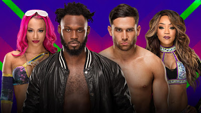 Rich Swann & Sasha Banks vs. Noam Dar & Alicia Fox