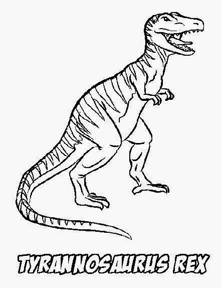 T rex pictures to color free coloring pictures for T rex color page