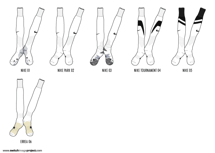 football teams shirt and kits fan: sock vector collection part 1