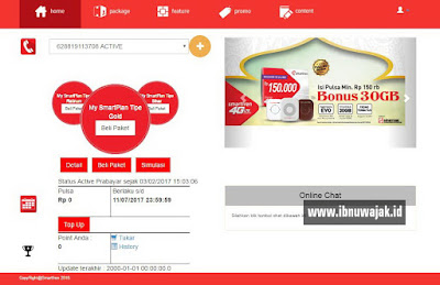 Menu Home MySmartfren