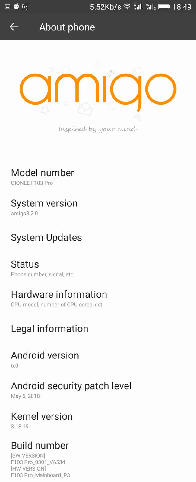 Gionee Stock Latest OTA Updated Rom for Q Mobile LT700 Pro