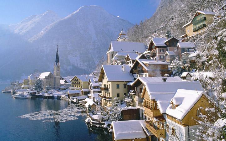 şehir kış resimleri