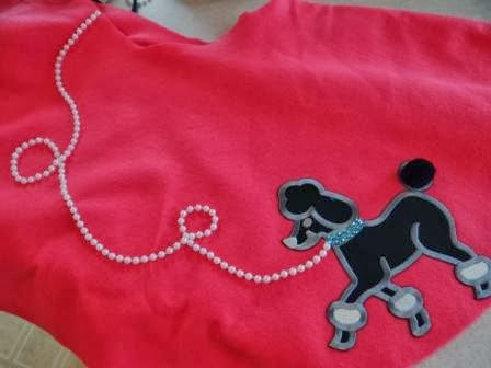 Because i said so and other mommyisms diy poodle skirt for Poodle skirt applique template