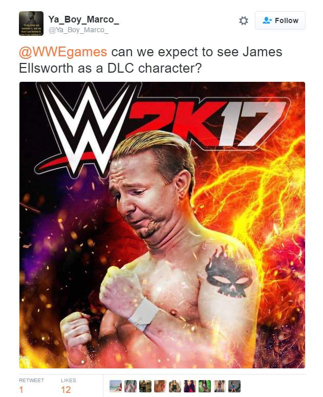 James Ellsworth jobber WWE 2K17