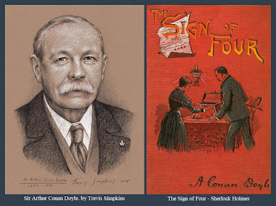 Sir Arthur Conan Doyle. Author and Creator of Sherlock Holmes. Freemason. by Travis Simpkins