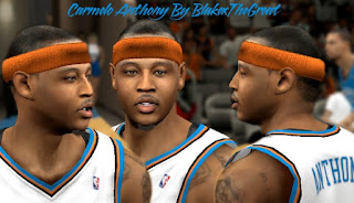 NBA 2K13 Cyber Face Carmelo Anthony