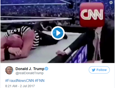 CNN reacts to Trump's WWE video