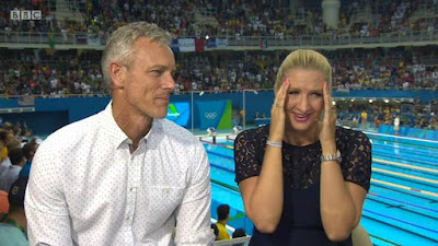 Michael Phelps' heroics in the pool the previous evening at the Rio Olympics were a lot for Becky Adlington , who separated in tears live on BBC amid scope of his award function.