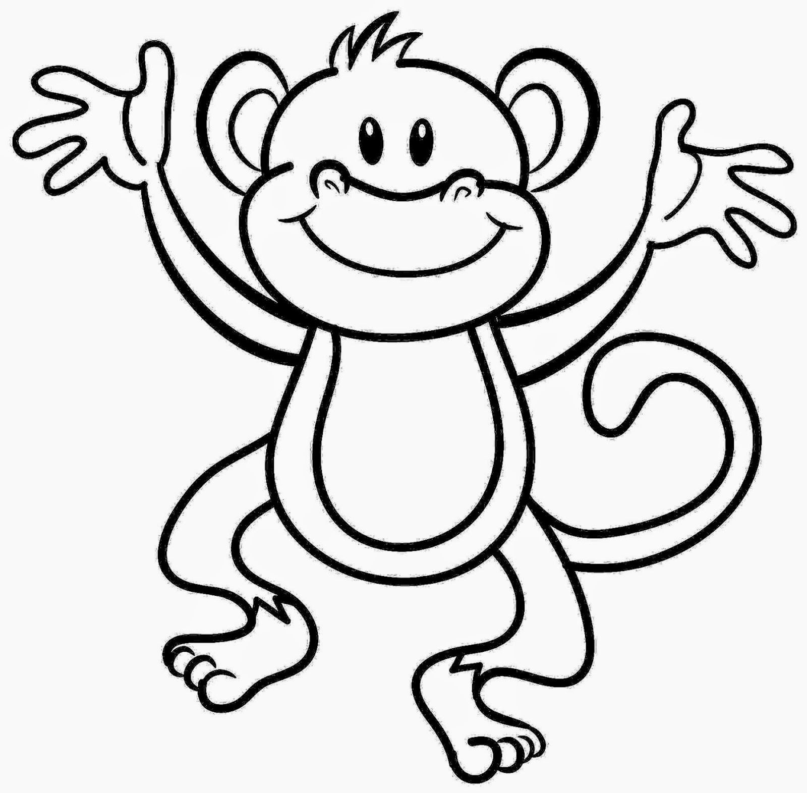 monkey color page coloring pictures of monkeys free coloring pictures