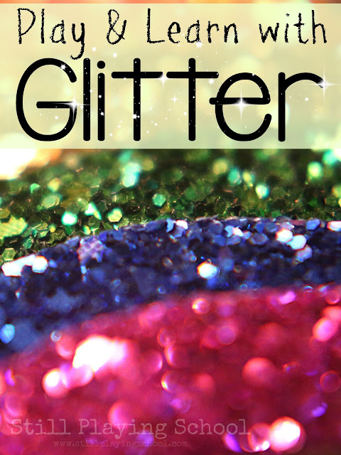 Glitter crafts and activities for kids!