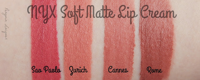 nyx soft matte lip cream swatches sao paolo zurich cannes rome