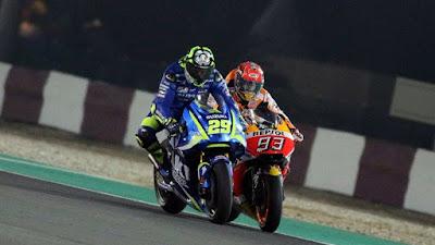 Kaget Marquez Memperlambat Laju Motor, Iannone Terjatuh di GP Qatar 2017