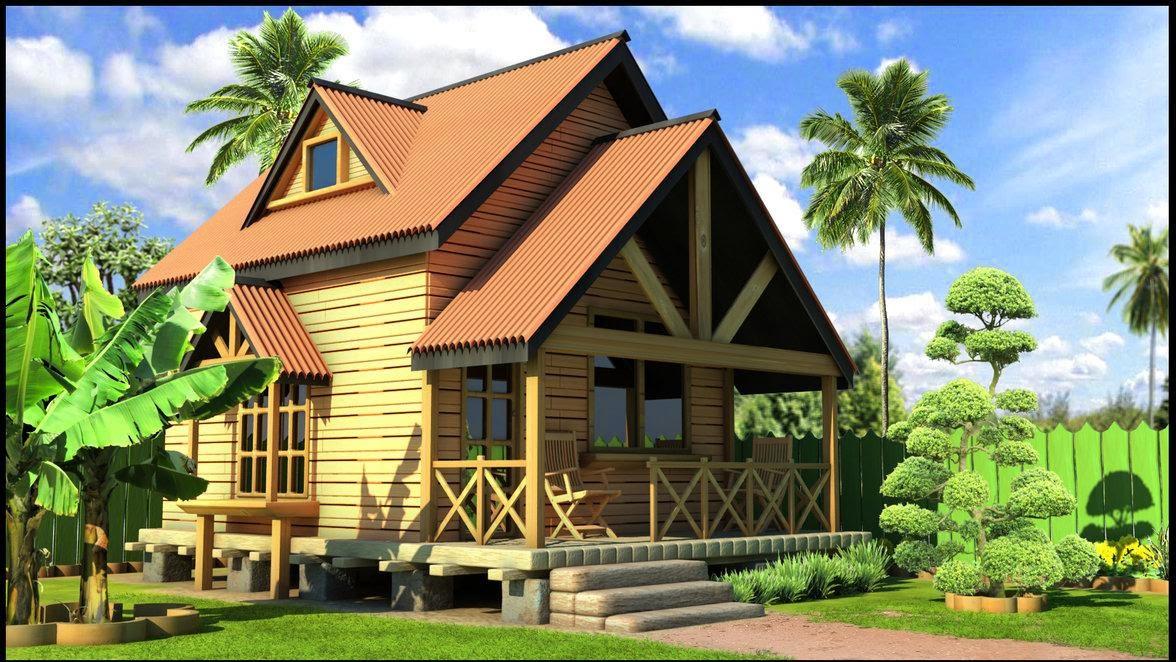 20 Contoh Rumah Kayu Minimalis Rencana Anggaran Biaya Desain Adat
