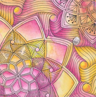 zentangle dreamcatcher nebel yincut sandswirl
