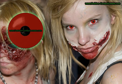 Blood Red Halloween Contacts