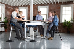 Ergonomic Boardroom Table That Is Height Adjustable
