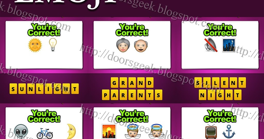 Guess The Emoji [Level 7] Answers and Cheats ~ Doors Geek