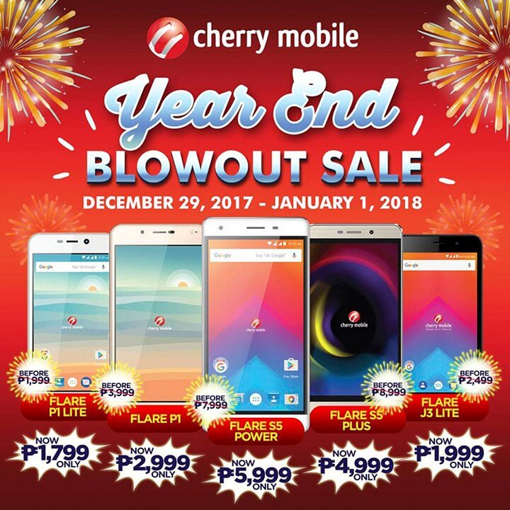 Save Up To PhP4K Discount on Cherry Mobile Year End Blowout Sale