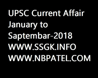 UPSC Current Affair January to Saptembar-2018