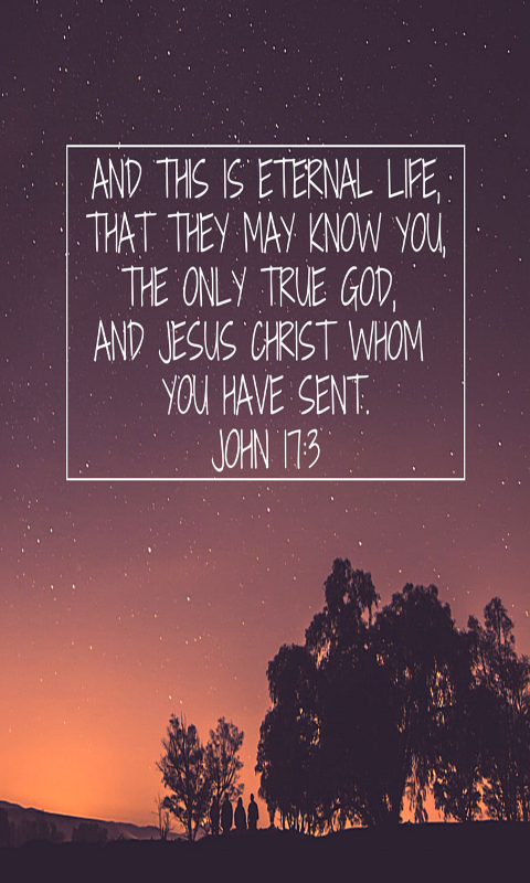 Now this is eternal life: that they know you, the only true God, and Jesus Christ, whom you have sent.