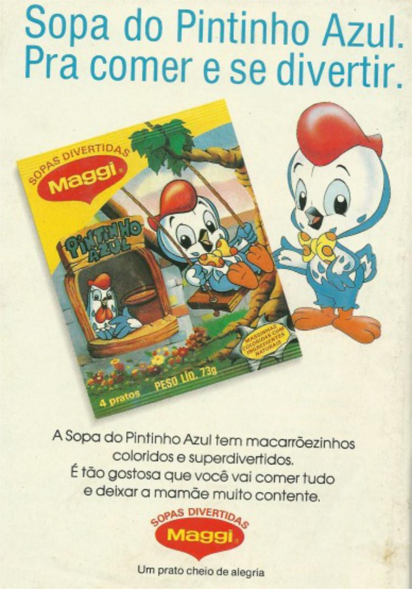 Propaganda de 1992 da Maggi para promover a sopa infantil do Pintinho Azul