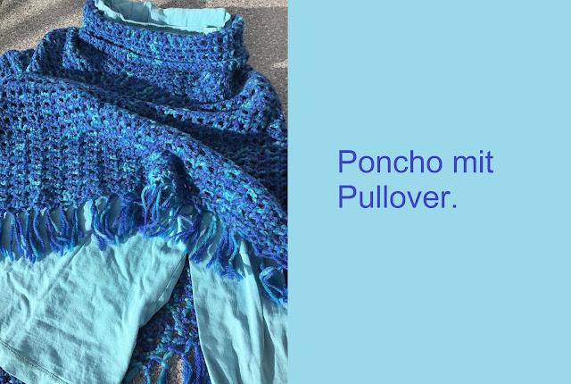 Poncho mit Unterziehpullover