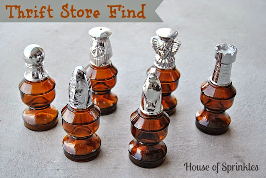 Thrift Store Find - Chess Pieces (Before)