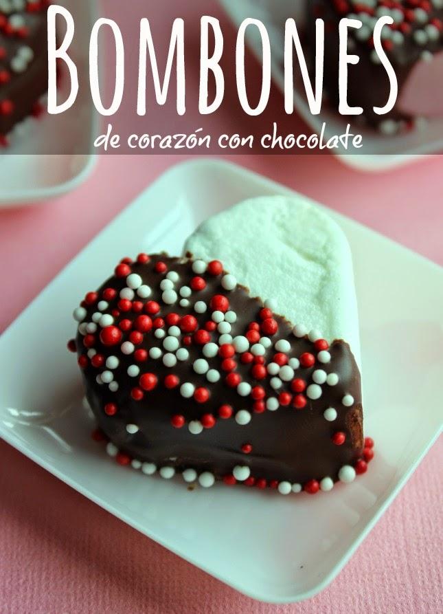 Bombones de Corazón con Chocolate by www.unamexicanaenusa.com