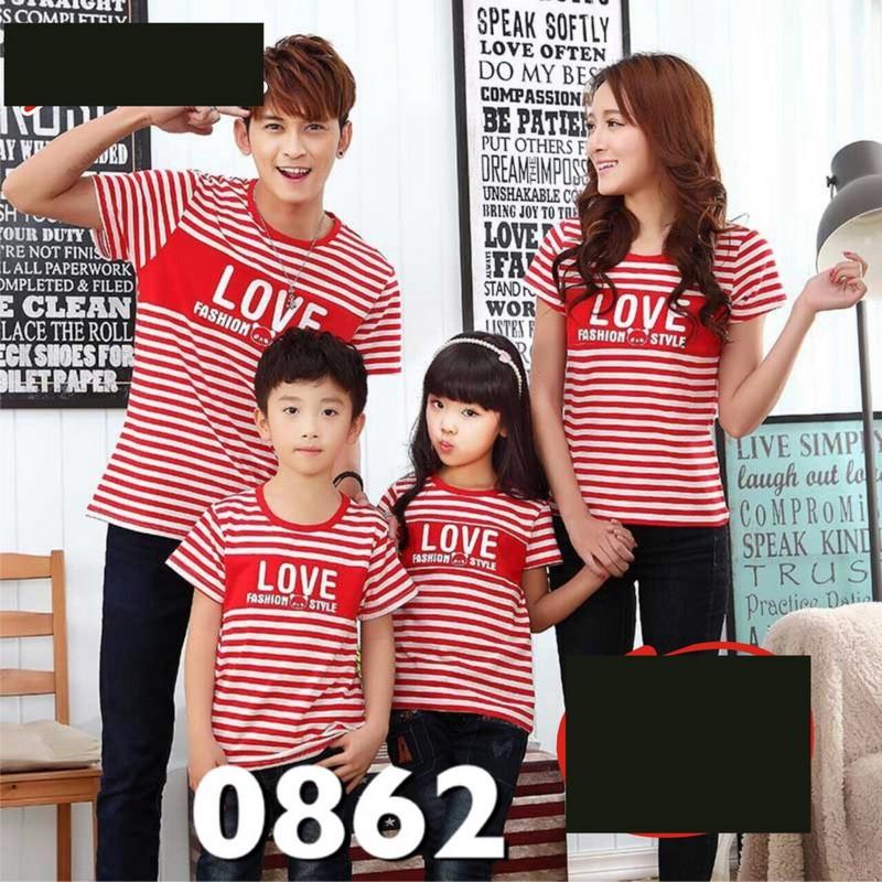 Jual Online FM2 Salur Style Red Couple Murah Jakarta Bahan Combed Terbaru