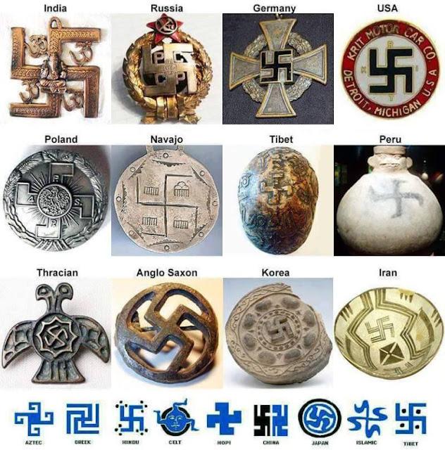 Al contrario de lo que se piensa en la actualidad,, la Esvástica representa paz y prosperidad y esto fue conocido por muchas y diversas civilizaciones antiguas alrededor del mundo. Es más que una coincidencia...