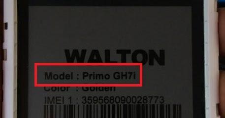 Walton Primo GH7i Firmware Flash File | bk mobile zone