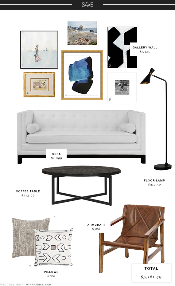 Sophisticated living room: Save moodboard | My Paradissi