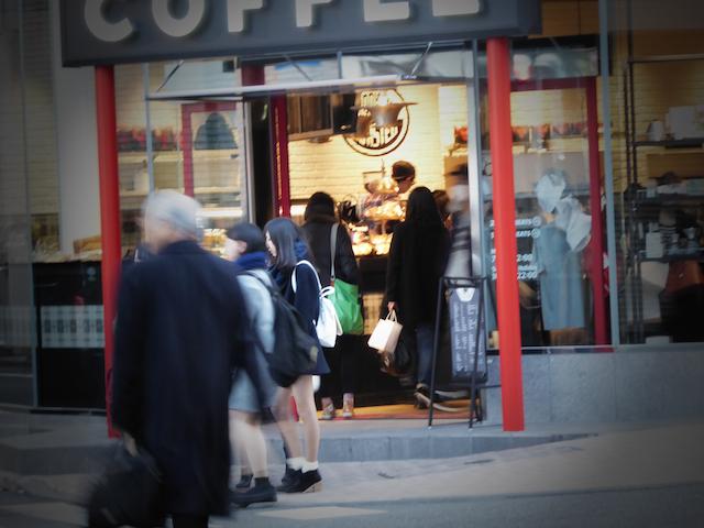 画像:ゴリラコーヒー入り口付近
