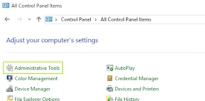 Isi control panel pada Windows 10
