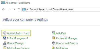 Isi control panel pada Windows 10
