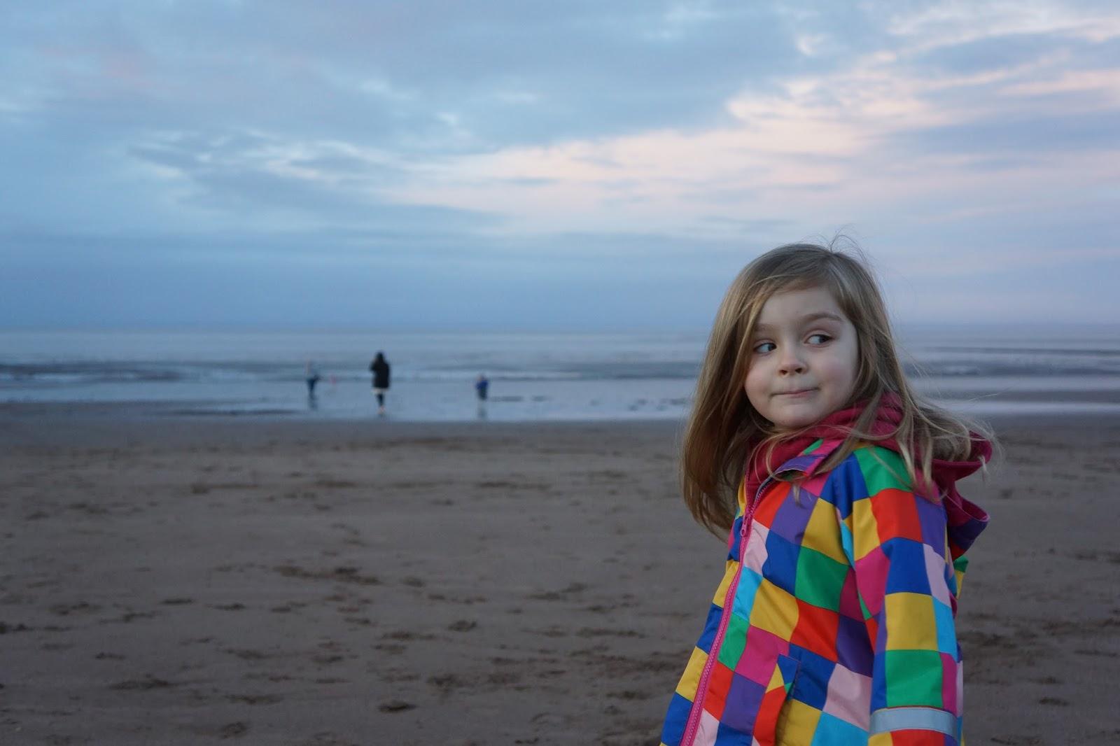 girl on beach at butlins minehead