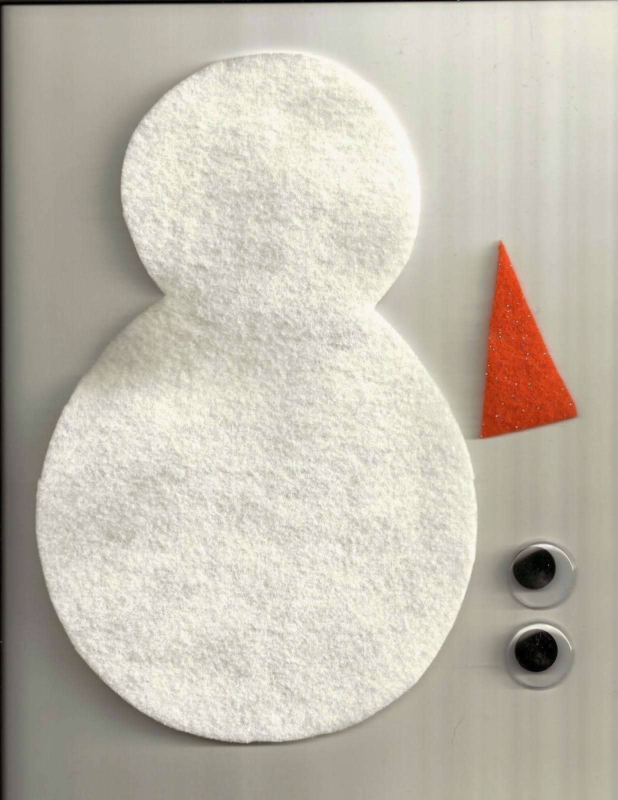 Kinderdi Roll A Snowman Felt Style