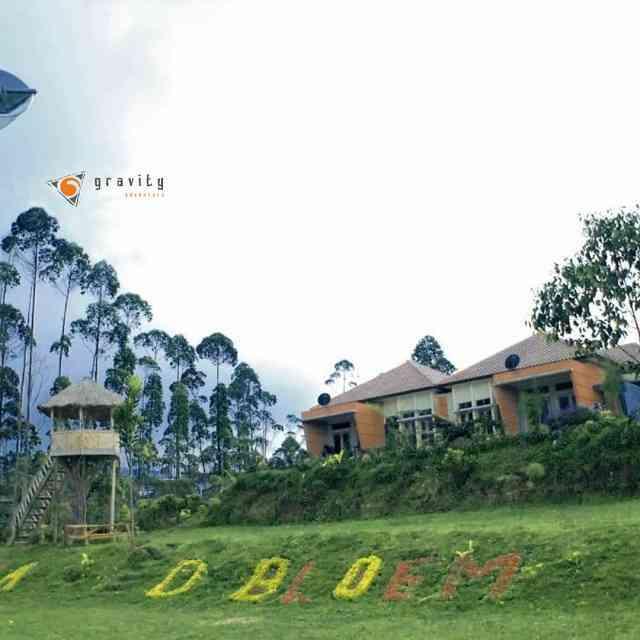 villa debloem sebagai fasilitas gravity adventure