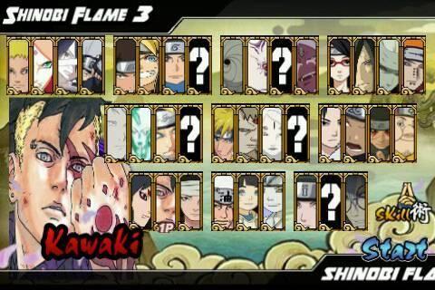 Naruto Boruto Senki MOD Full Characters Shinobi Flame 3 Update Terbaru
