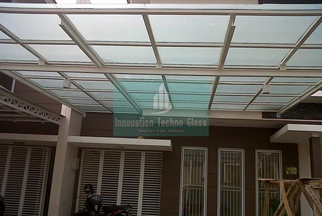 iKanopii Kaca Tempered Desain Eksterior Bangunan Modern