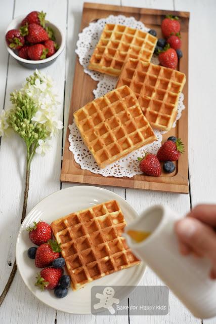 yeasted crispy Belgian waffles