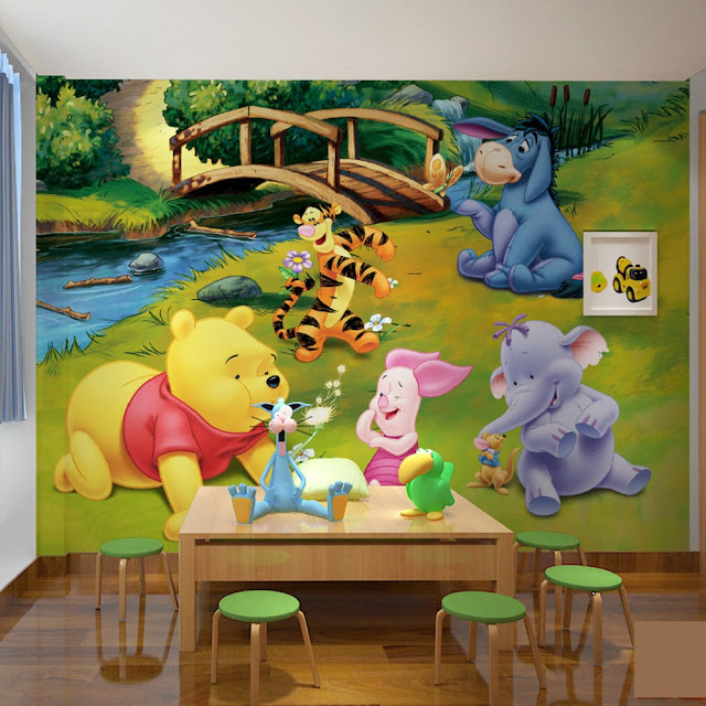 Winnie the Pooh Wall Mural Disney 3D Wallpaper