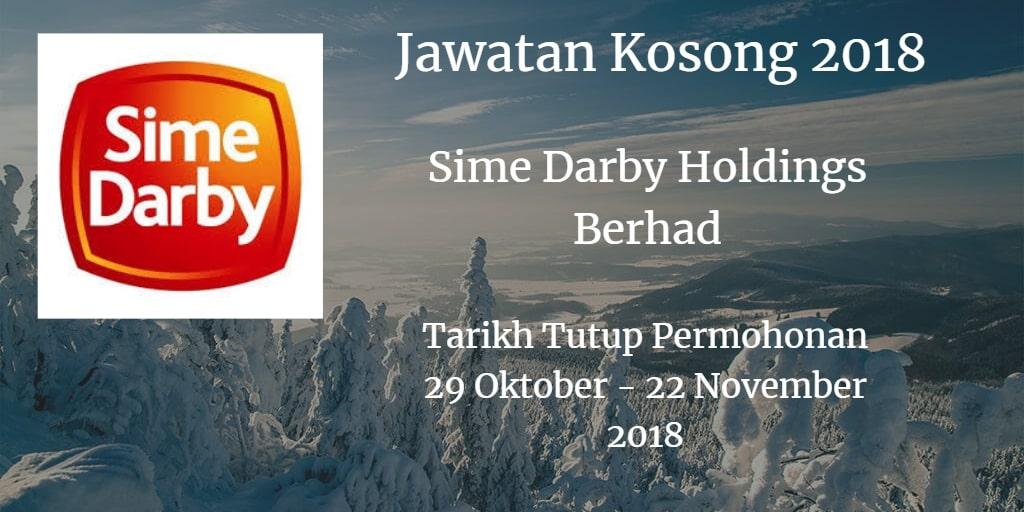 Jawatan Kosong Sime Darby Holdings Berhad 27 November - 22 Disember 2018