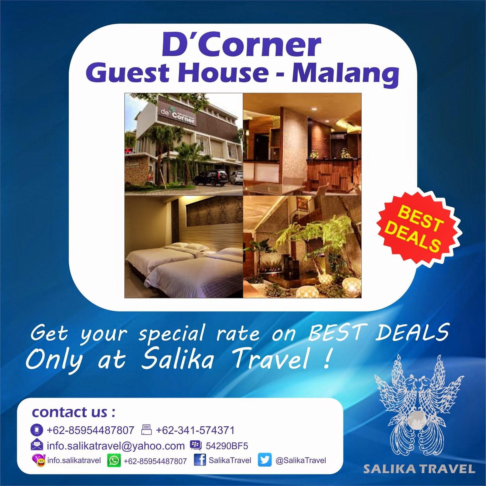 D'Corner Guest House Malang - Salika Travel